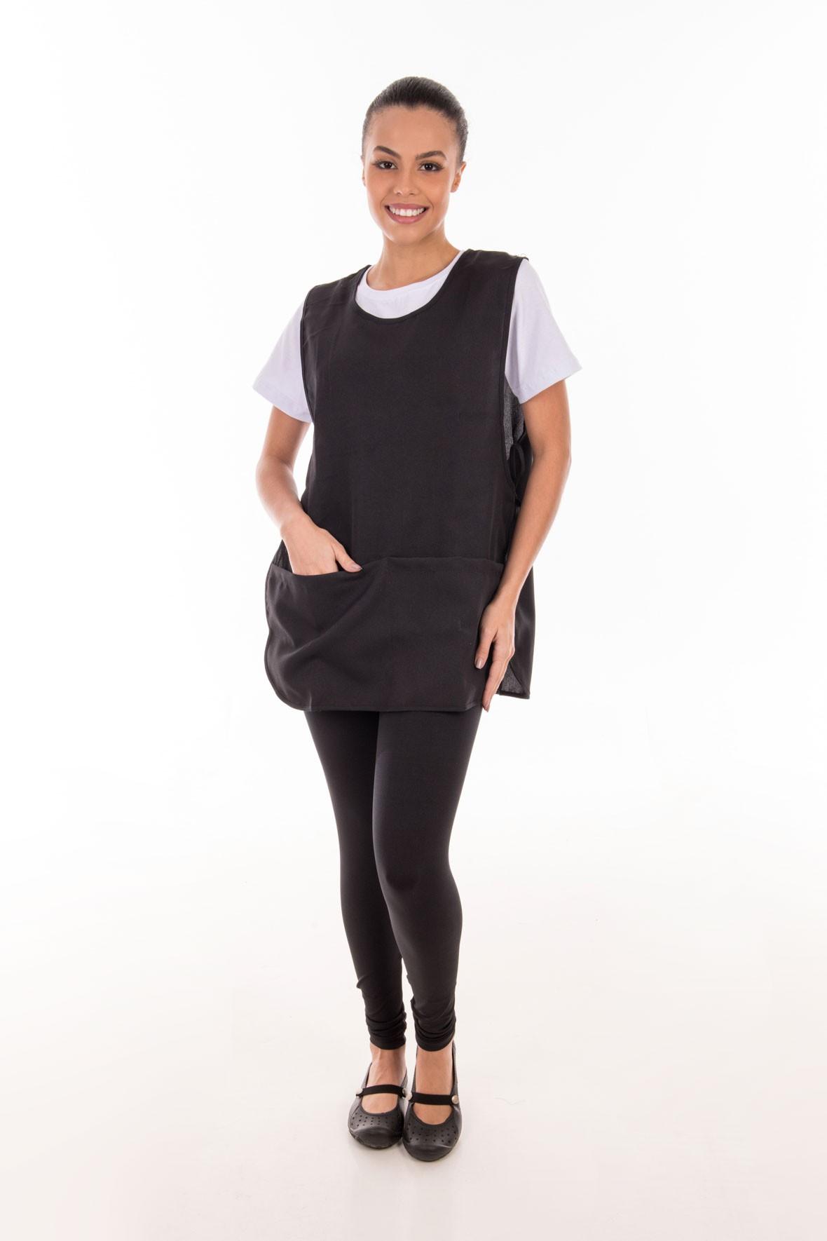 Conjunto de calça legging, camiseta e bata para copeira, arrumadeira, faxineira, babá  - EBT UNIFORMES
