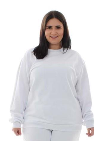 Plus Size -  Blusa de Moletom Fechado em Tecido Flanelado  - EBT UNIFORMES