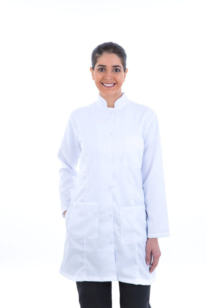 Jaleco Branco Acinturado / Guarda Pó Feminino  - EBT UNIFORMES