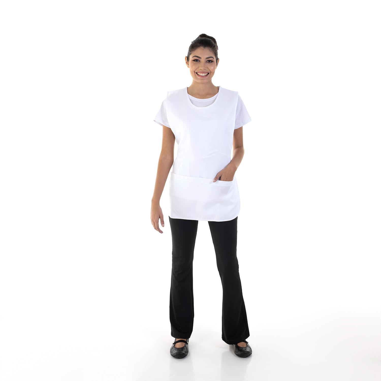 Kit com 2  Conjuntos de Calça Bailarina, Camiseta e Bata para Copeira, Arrumadeira, Faxineira, Babá  - EBT UNIFORMES