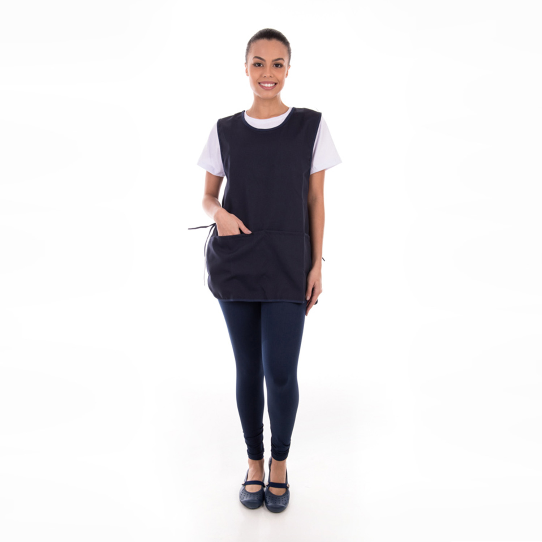Kit com 2  Conjuntos de Calça Legging, Camiseta e Bata para Copeira, Arrumadeira, Faxineira, Babá  - EBT UNIFORMES