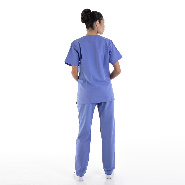 Kit com 2  Pijamas Cirúrgicos Scrub Feminino em Tecido Cedro Hospitalar - 100% Algodão  - EBT UNIFORMES