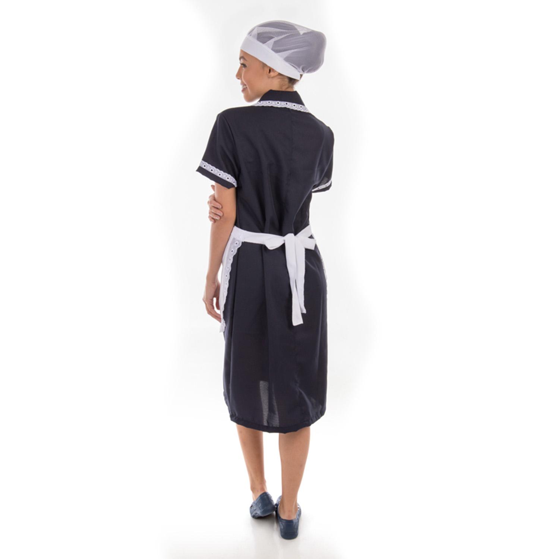 Kit com 2 Vestidos Copeira em Tecido Oxford com Avental  - EBT UNIFORMES