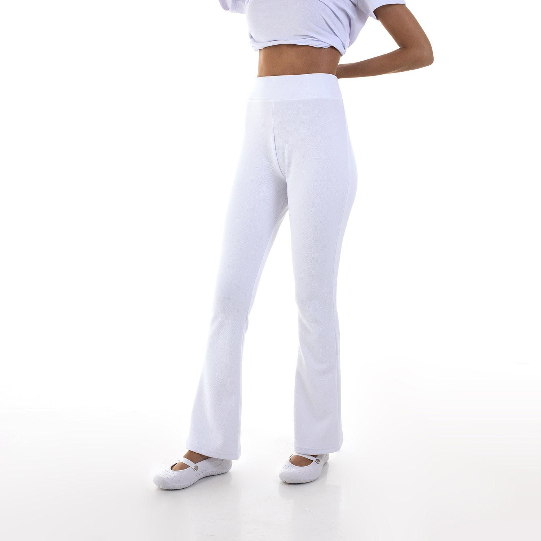 Kit com 3 Calças Bailarina Flare Cintura Alta em tecido Suplex  - EBT UNIFORMES