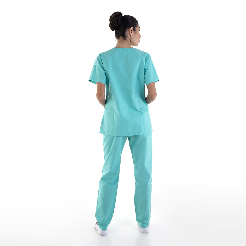 Pijama Cirúrgico Scrub Feminino em Tecido Cedro Hospitalar - 100% Algodão  - EBT UNIFORMES