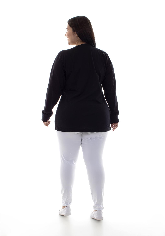 Plus Size - Calça Legging Cintura Alta em tecido Suplex  - EBT UNIFORMES