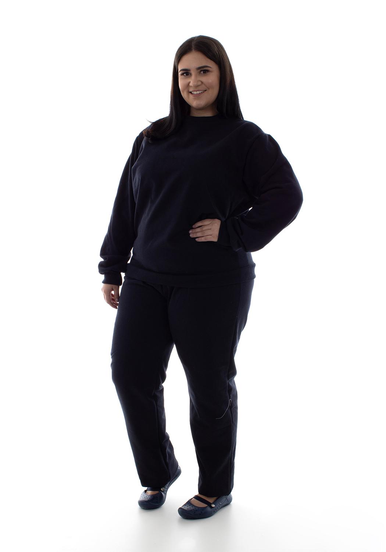 Plus size - Conjunto de Moletom com Blusa Fechada em Tecido Flanelado  - EBT UNIFORMES