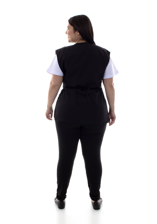 Plus Size - Conjunto de Calça Legging, Camiseta e Bata para Copeira, Arrumadeira, Faxineira, Babá  - EBT UNIFORMES