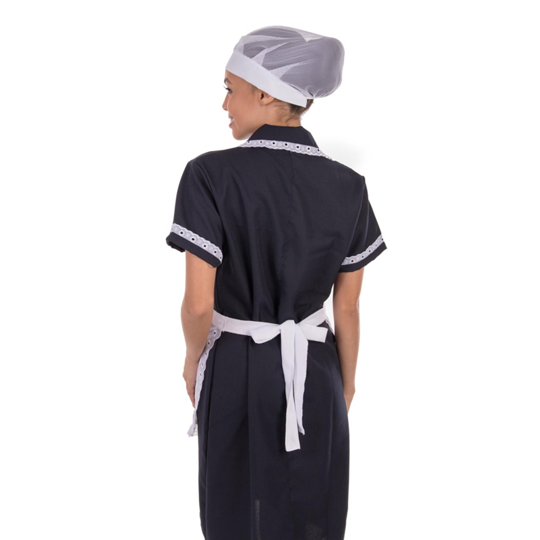 Vestido Copeira em Tecido Oxford com Avental  - EBT UNIFORMES