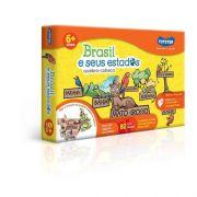 BRASIL E SEUS ESTADOS - QUEBRA CABEÇA  82 PCS TOYSTER
