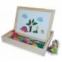 Lousa Magnética Infantil Brinquedo Educativo 2 Em 1 Carimbras 4930