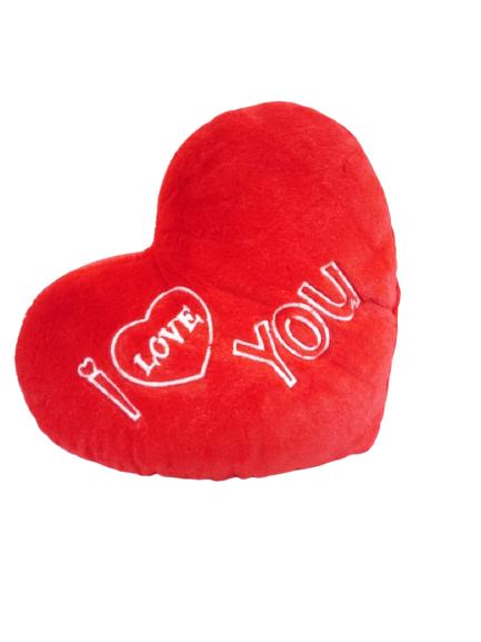 Almofada Coração I love You Vermelha 35 cm 223 Brumar