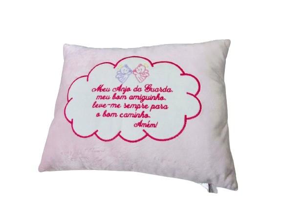 Almofada Travesseiro Antialergico Meu Anjinho Da Guarda Rosa Brumar