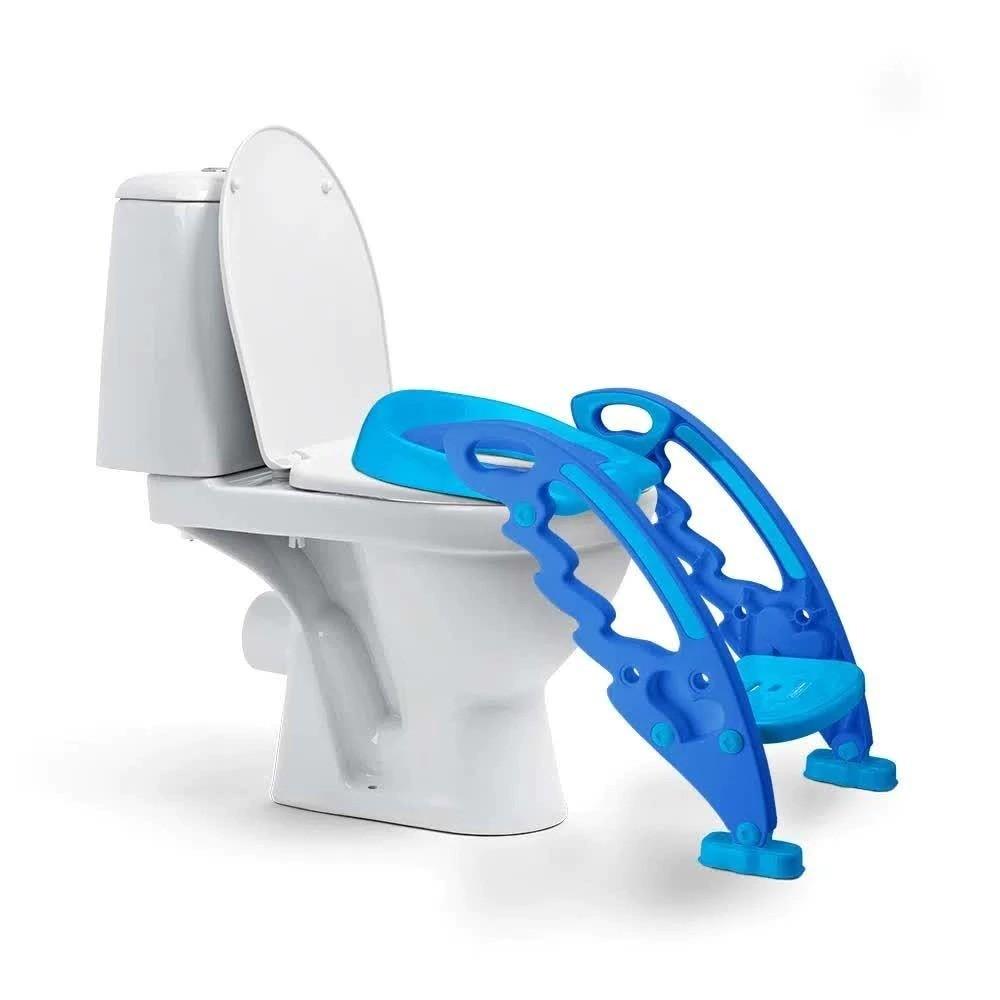 Assento Redutor Com Escada Azul Baby Step Potty Multikids