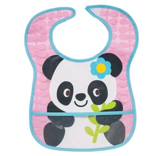 Babador Impermeável Panda Com Bolso Para O Bebê Buba Baby