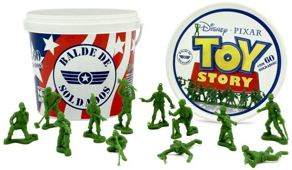 Balde Com 60 Soldados Toy Story Toyng