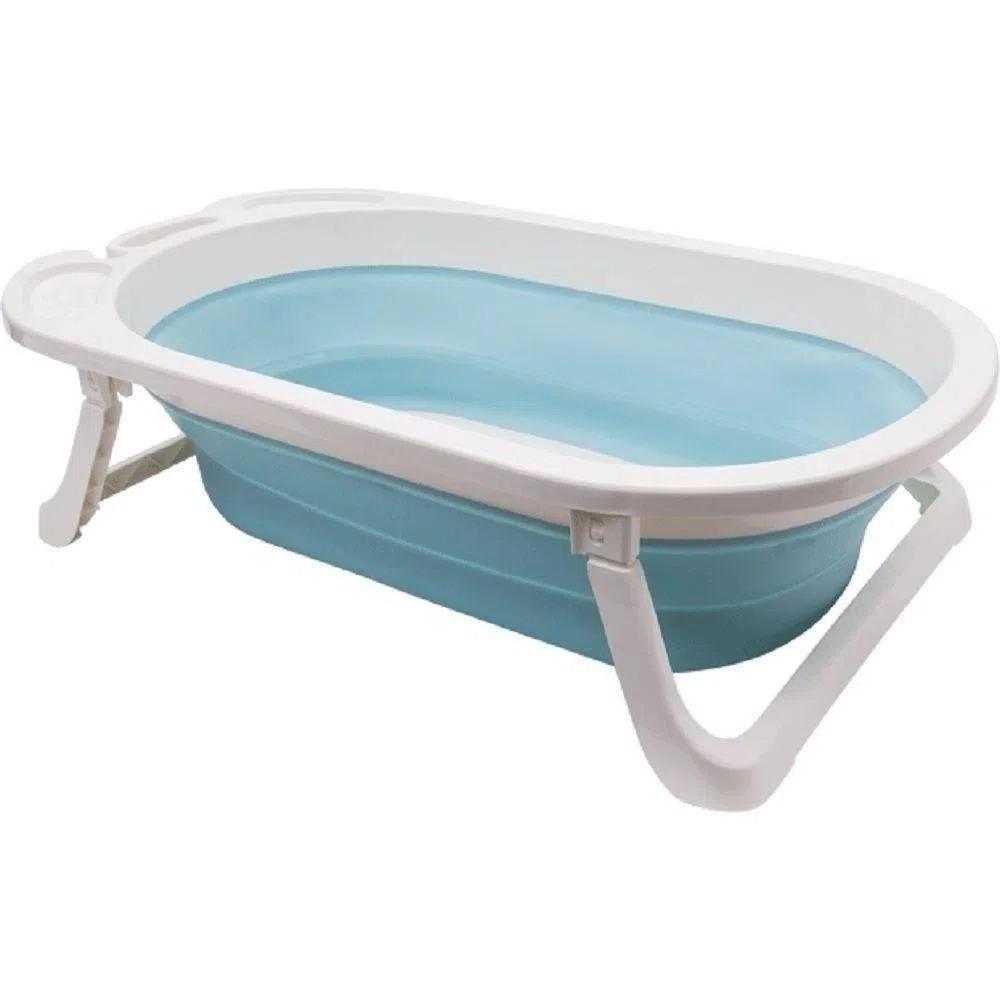 Banheira Baby Dobrável 30L Azul Buba