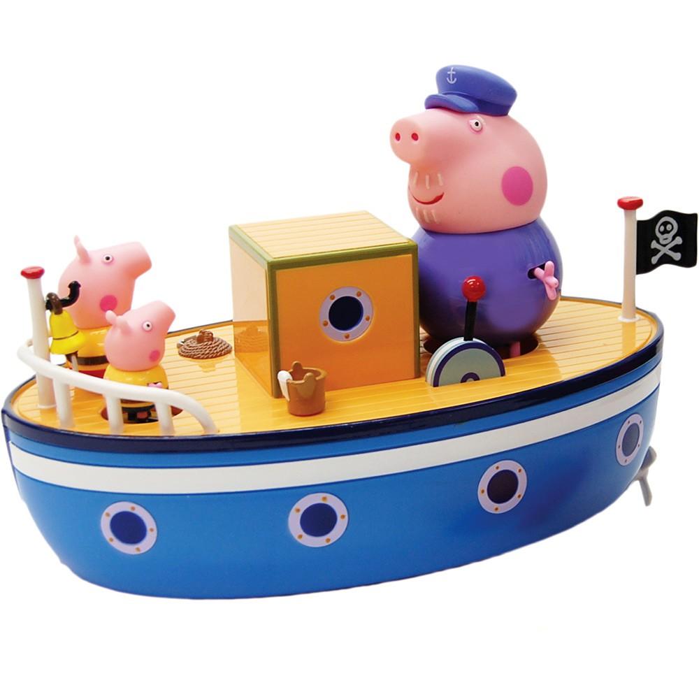 Barco Do Vovô Pig Veículo Que Flutua Na Água Sunny