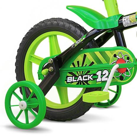 BICICLETA ARO 12 BLACK SELIM PU NATHOR