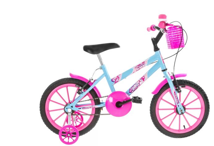 Bicicleta Infantil Aro 16 Azul e Rosa Ultra Bikes