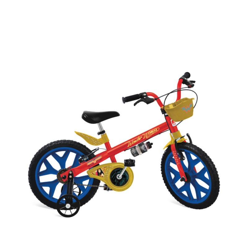 Bicicleta Infantil Aro 16 Mulher Maravilha Bandeirante