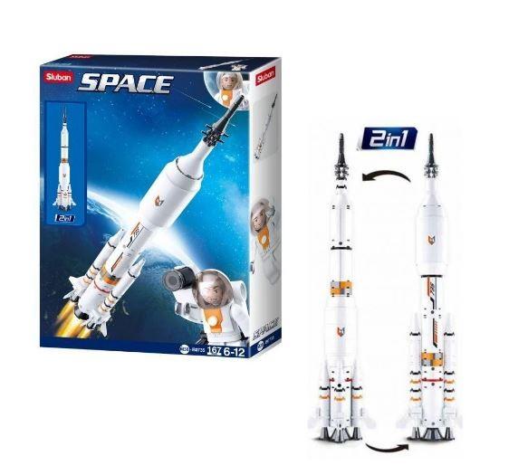 Blocos de Montar Astronautas Foguete 167 Peças Multikids