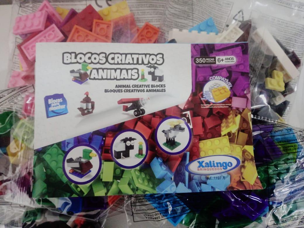 Blocos De Montar Criativos Xalingo Animais 350 Peças