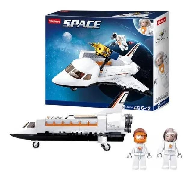 Blocos De Montar Estação Espacial Foguete 231 Peças Multikids