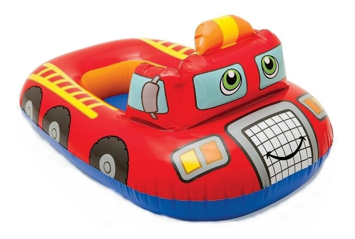 Boia Infantil Inflável Baby Veiculo Carro Vermelho Com Encaixe Para As Pernas Intex