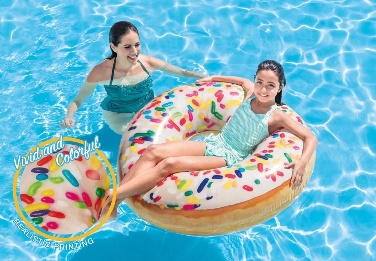Bóia Inflável Donut Granulado 56263 Intex