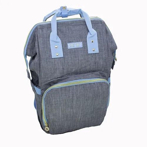 Bolsa E Mochila De Maternidade Impermeavel Com Compartimento Térmico Cinza/Azul Claro Lovely Baby