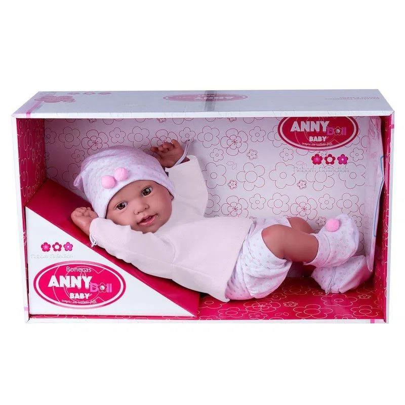 Boneca Anny Doll Baby Menina Reborn Shorts Blusa 2443 Cotiplás