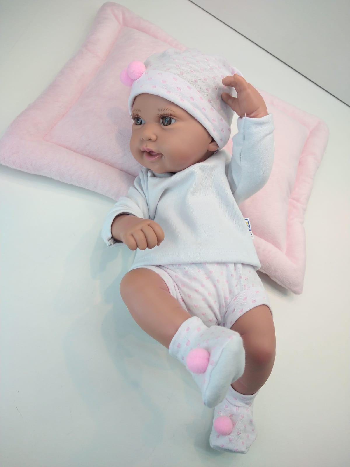 Boneca Anny Doll Baby Reborn  2443 Cotiplás