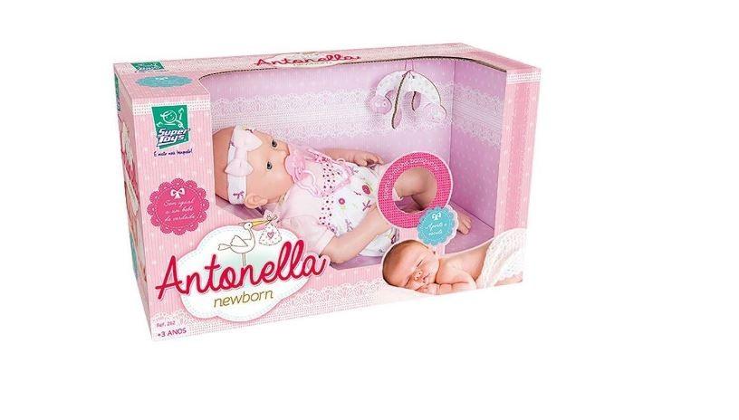 Boneca Antonella Newborn Supertoys