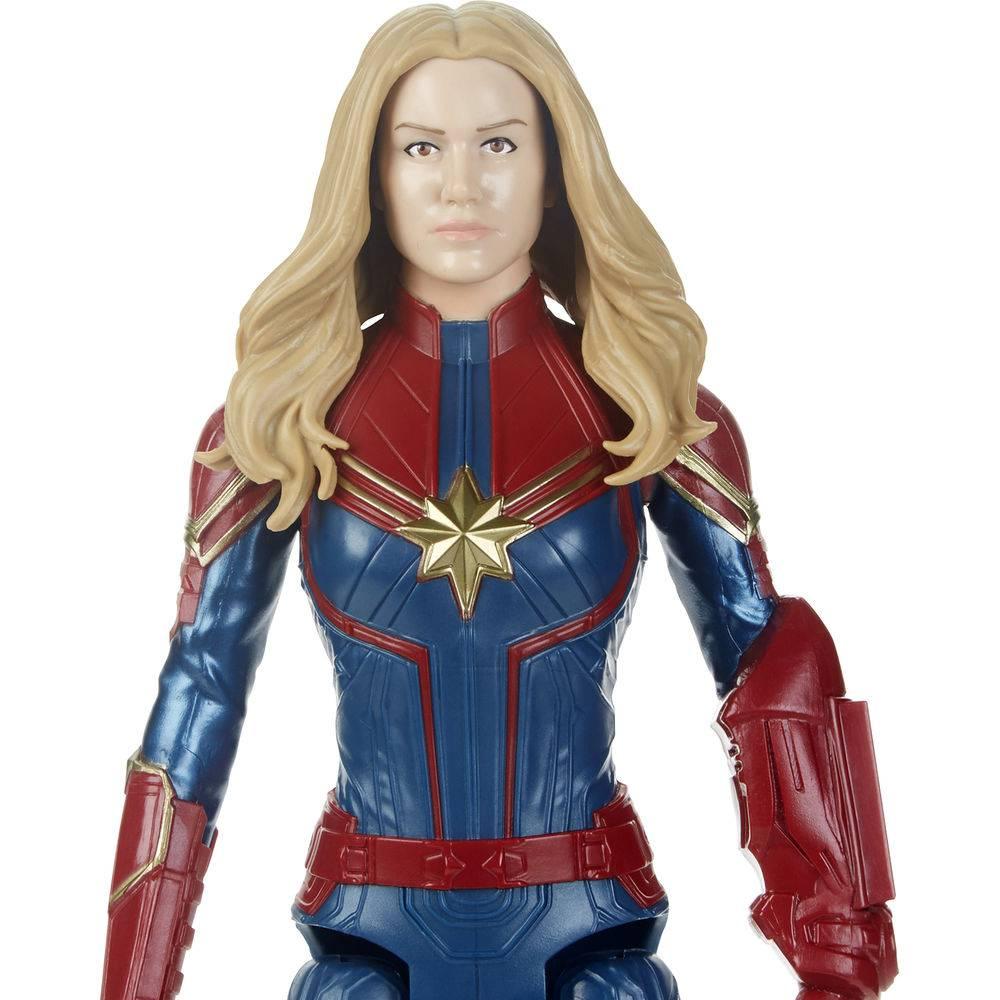 Boneca Articulada Capitã Marvel Titan Hero Power Fx