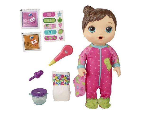 Boneca Baby Alive Aprendendo A Cuidar Pijama Dinossauro Morena Hasbro