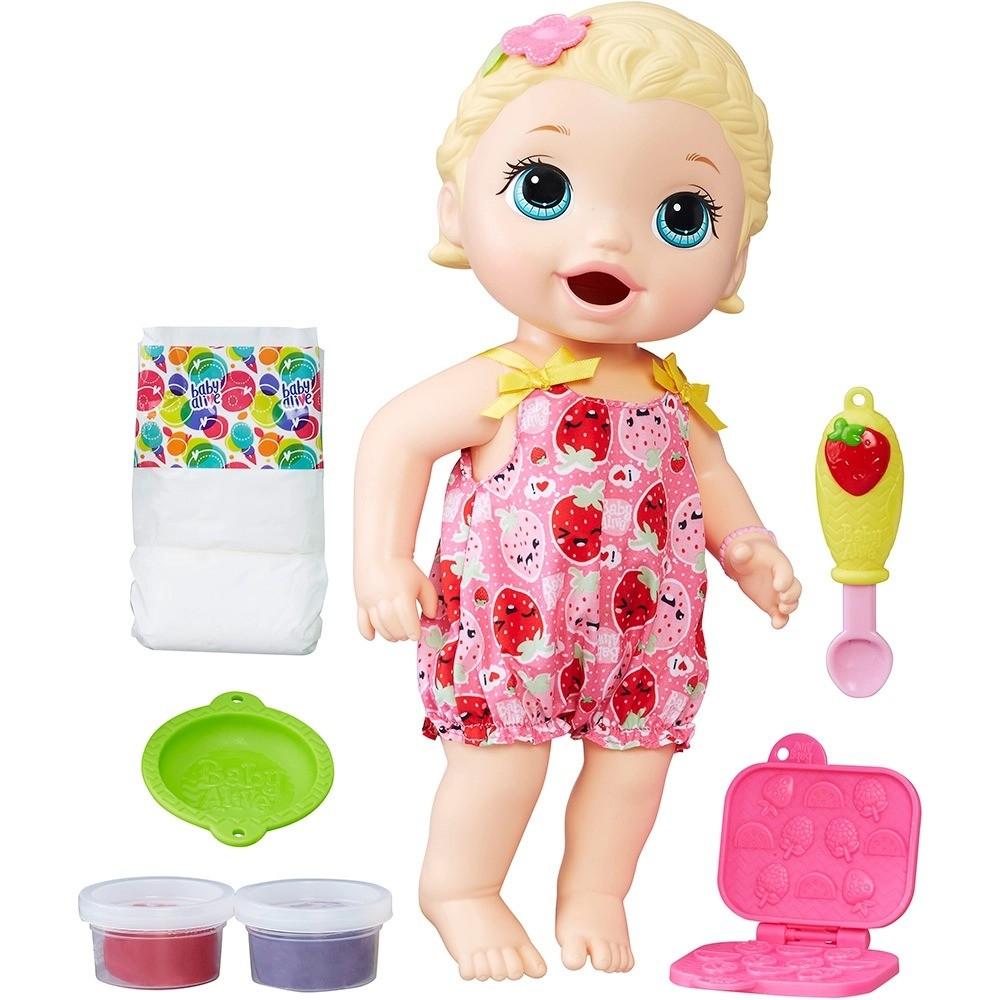 Boneca Baby Alive Lanchinhos Divertidos Loira Hasbro B5013