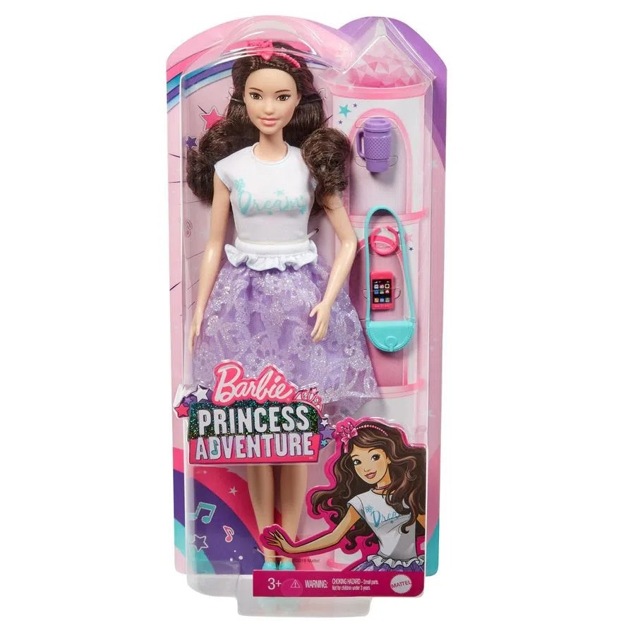 Boneca Barbie Aventura De Princesa Renee Com Acessórios Mattel