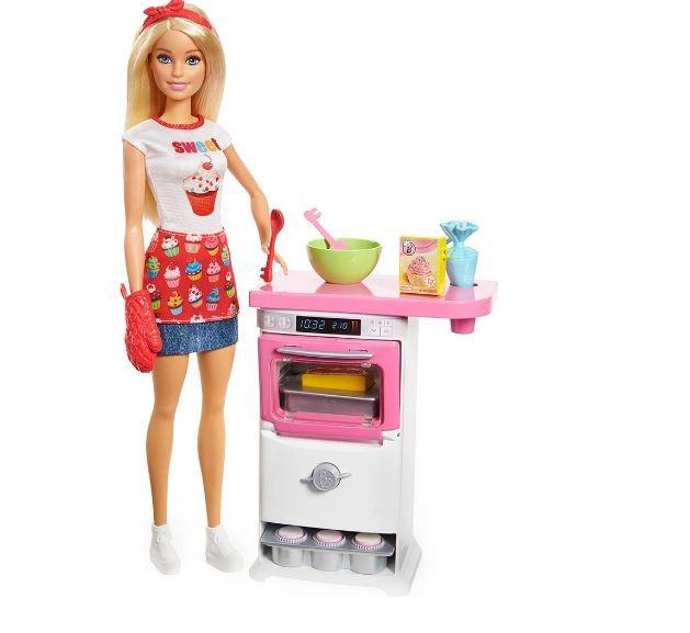Boneca Barbie Chef de Bolinhos Cozinhando e Criando Mattel