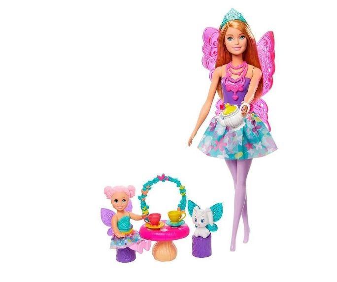 Boneca Barbie Dreamtopia Dia De Pets Festa Do Chá GJK49