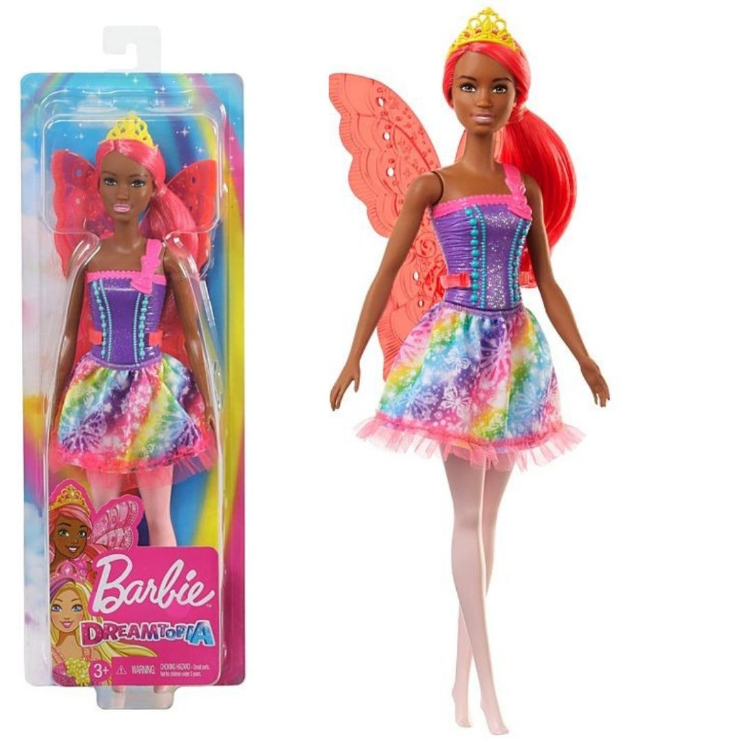 Boneca Barbie Dreamtopia Fada Morena Com Asas Translúcidas E Cabelo Vermelho Mattel