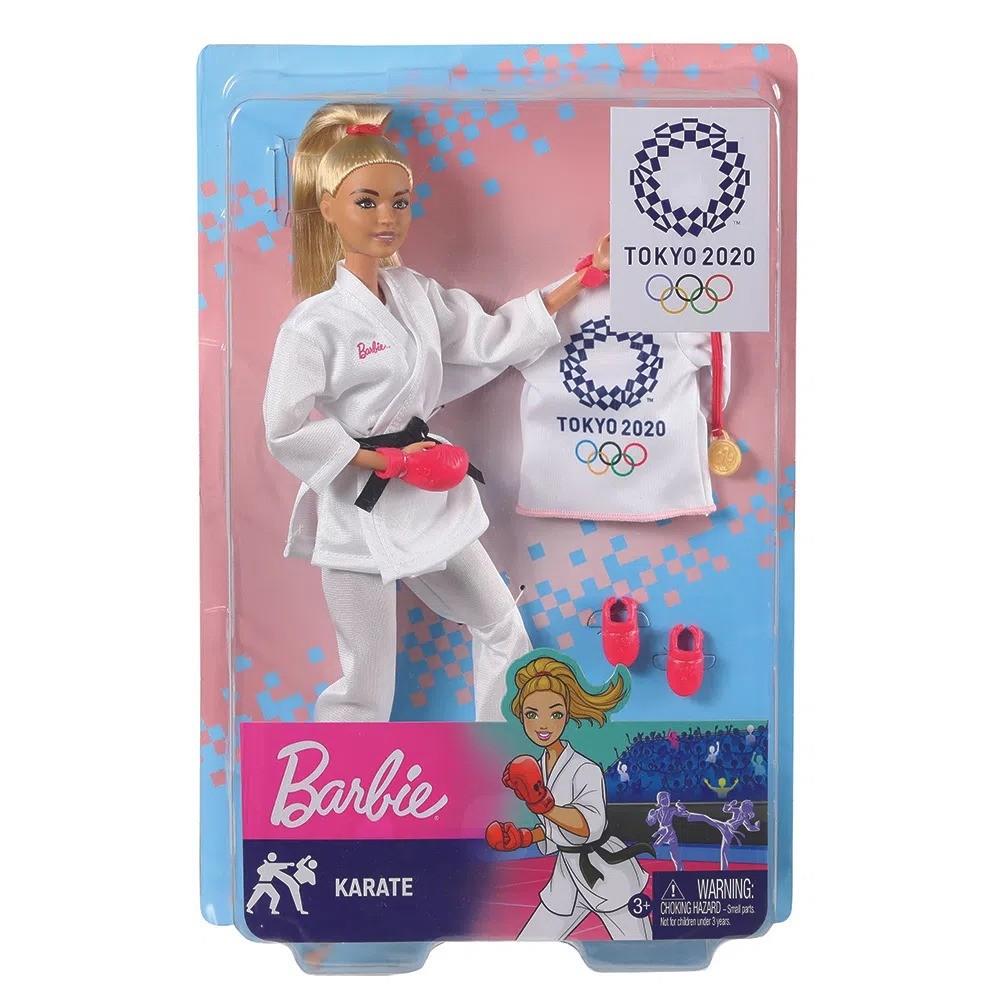 Boneca Barbie Esportista Olímpiadas Tokyo 2020 Karateca Karatê Loira Mattel