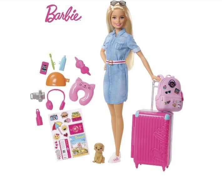 Boneca Barbie Explorar e Descobrir Barbie Viajante