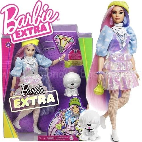 Boneca Barbie Extra Articulada Oriental Cabelo Comprido Com Pet E Acessórios Mattel