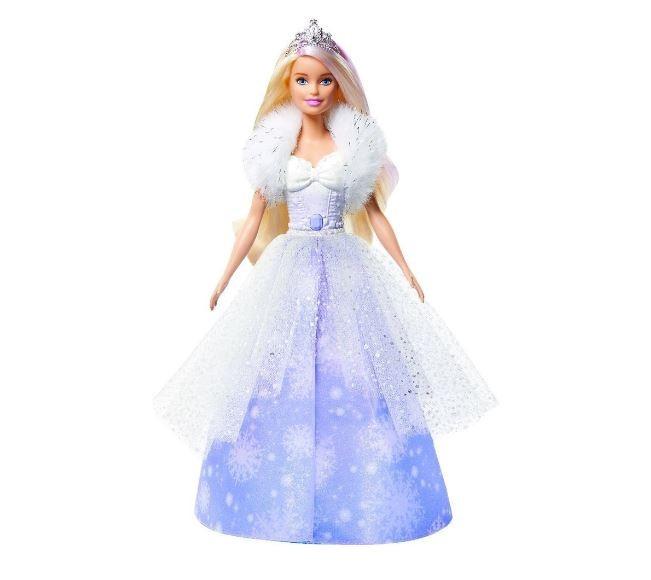 Boneca Barbie Fantasia Princesa Com Vestido Mágico GKH26