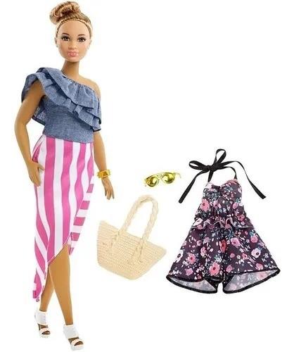 Boneca Barbie Fashionista Morena Com Roupinhas e Acessórios Modelo 102 Mattel