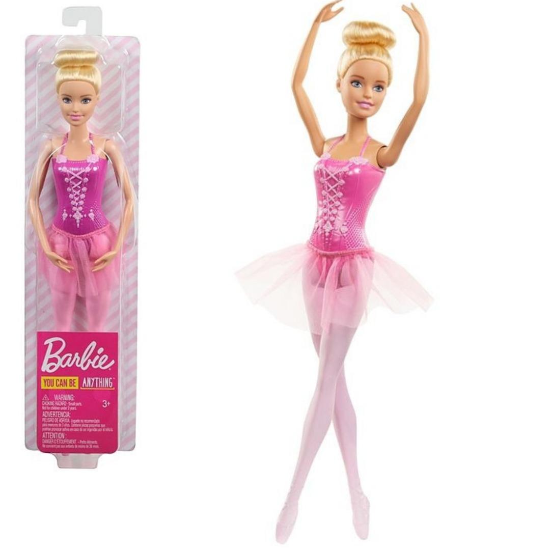 Boneca Barbie Loira Profissões Bailarina Clássica Rosa Mattel