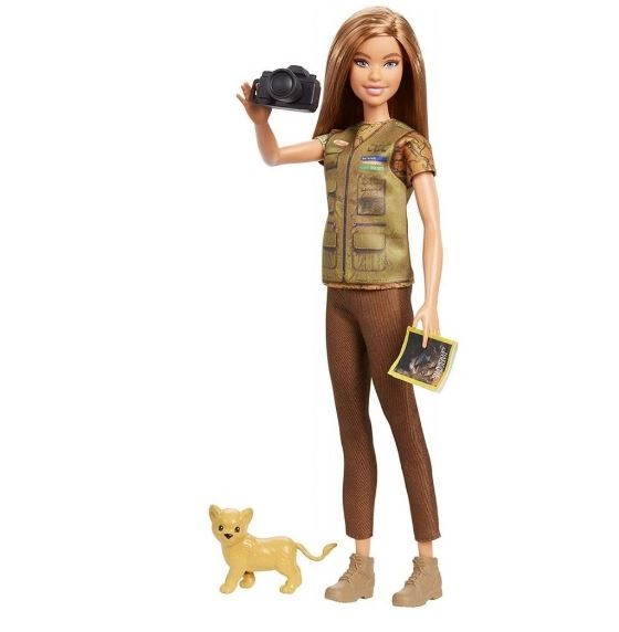 Boneca Barbie National Geographic Fotografa Vida Selvagem
