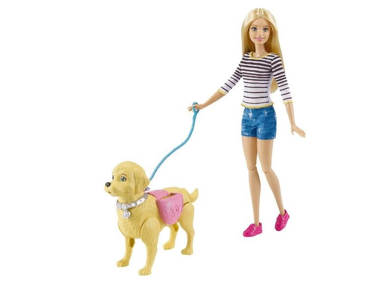 Boneca Barbie Passeio Com Cachorrinho Mattel