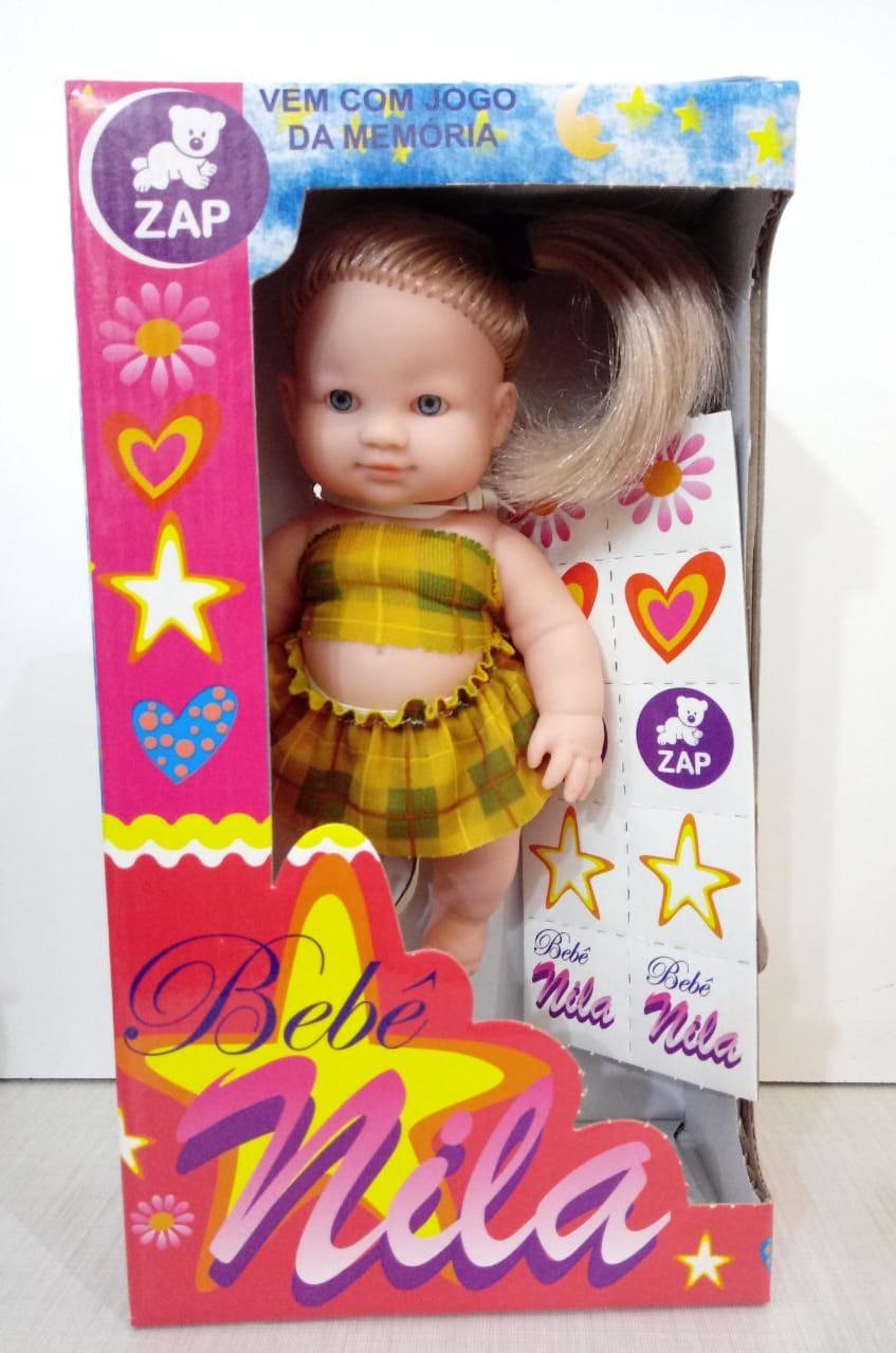 Boneca Bebê Mila Branca 1024 Zap